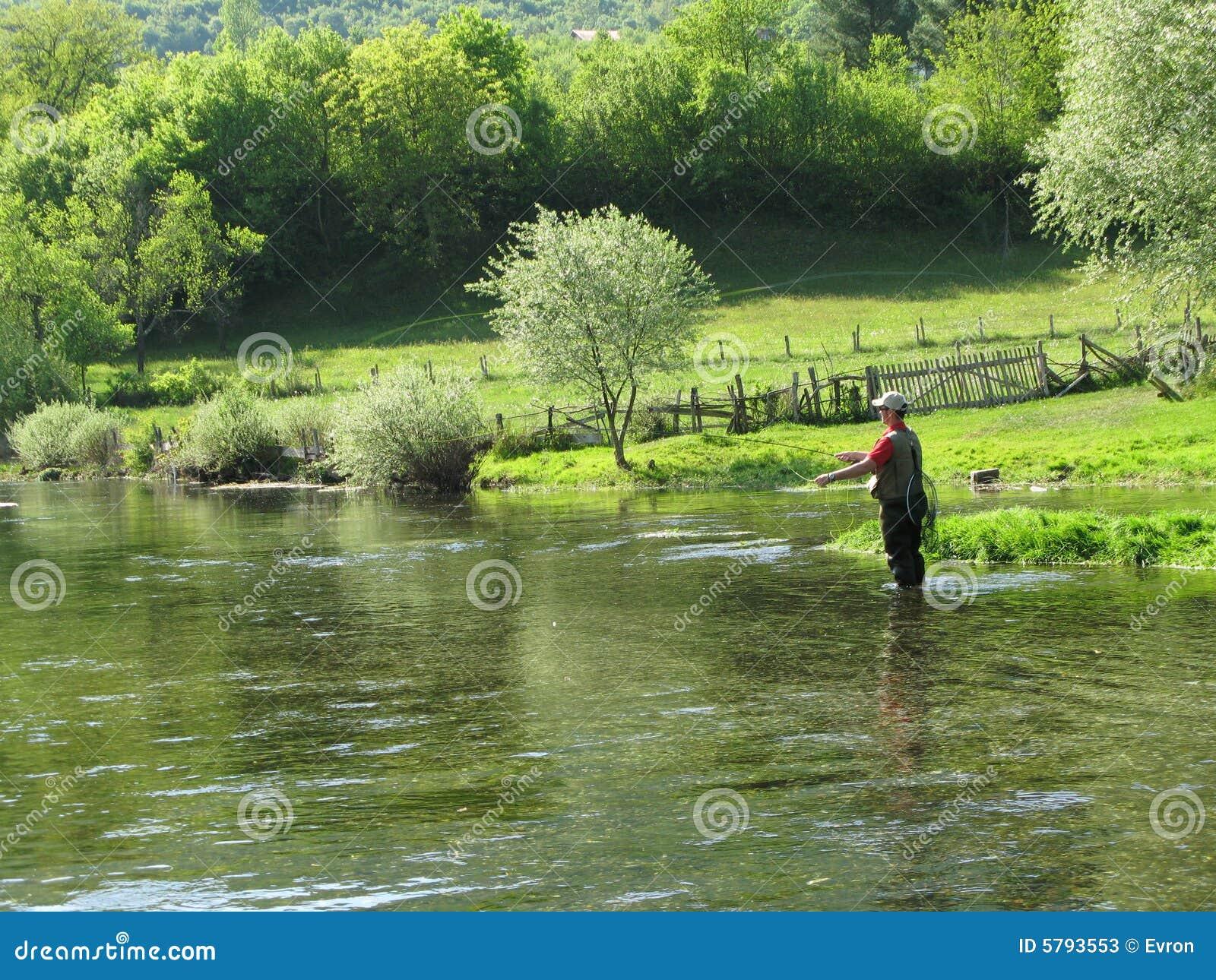 Fly-fishing em Ribnik