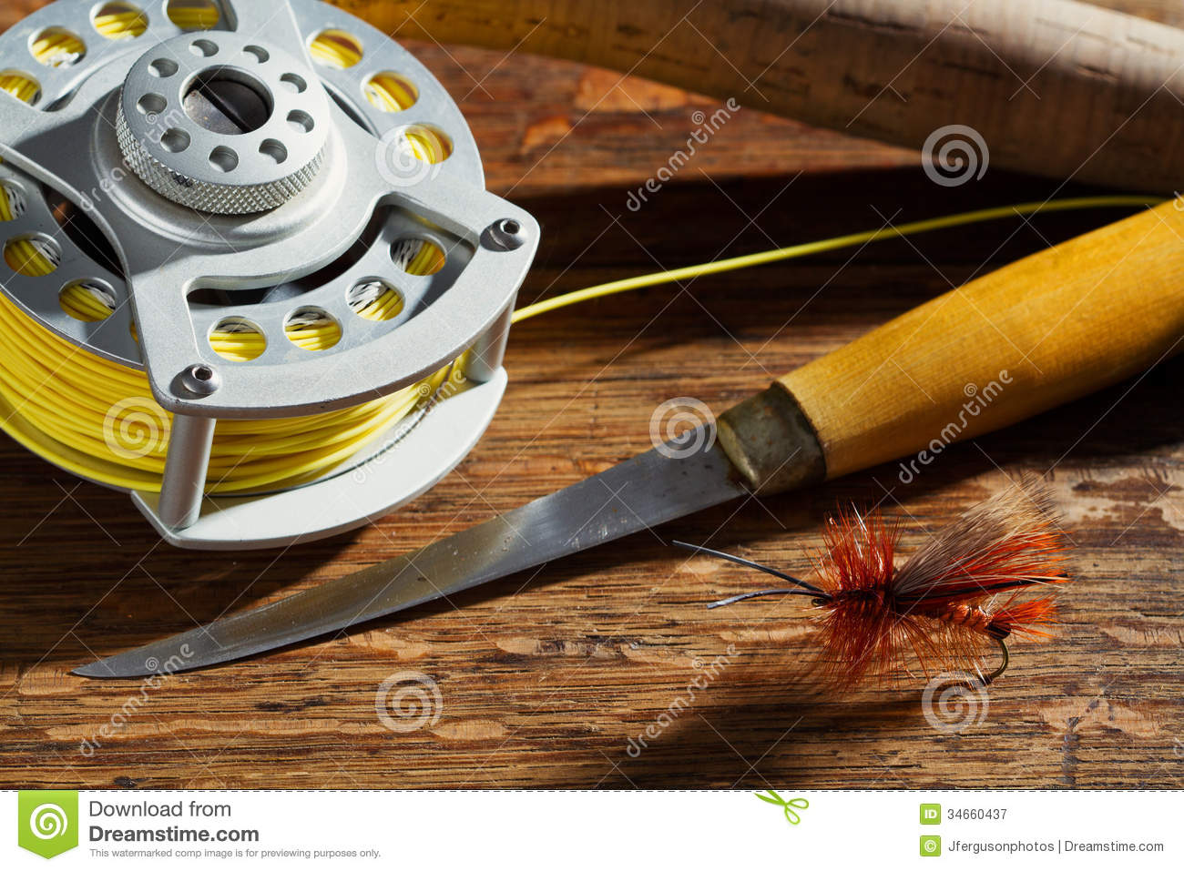 Fly fishing gear royalty free stock photography image for Best fishing gear