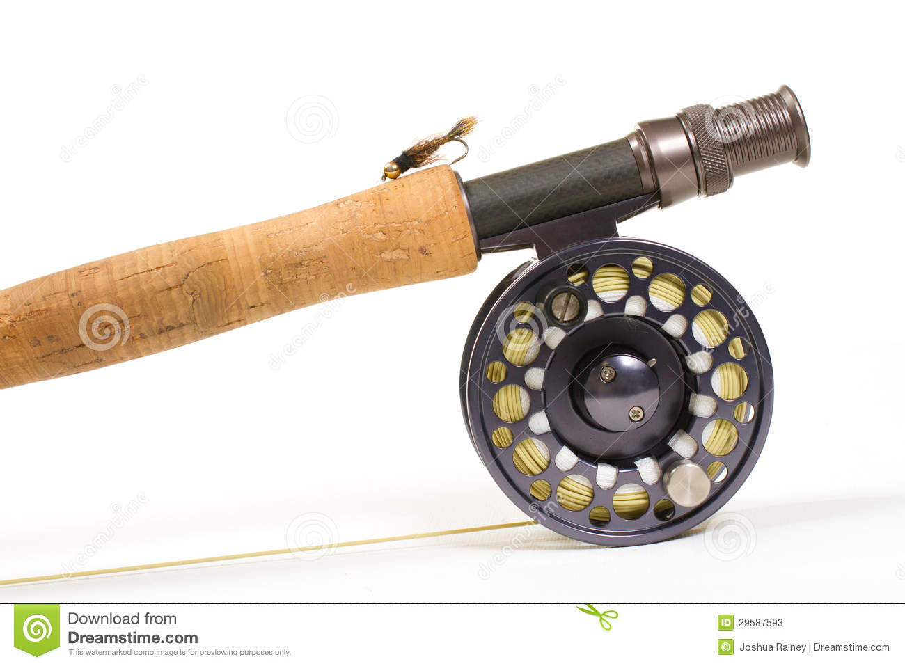 Fly fishing gear rod and reel stock photos image 29587593 for Trout fishing rod and reel