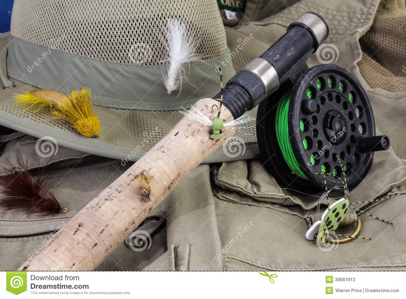 Fly fishing gear stock photo image 39561813 for Fly fishing gear