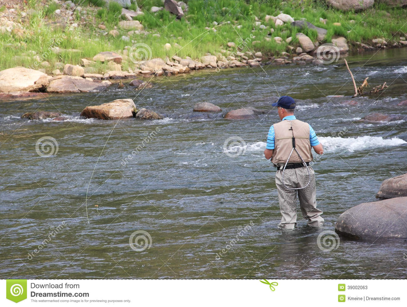 Fly fishing on the gunnison river in colorado stock photo for Best trout fishing in colorado