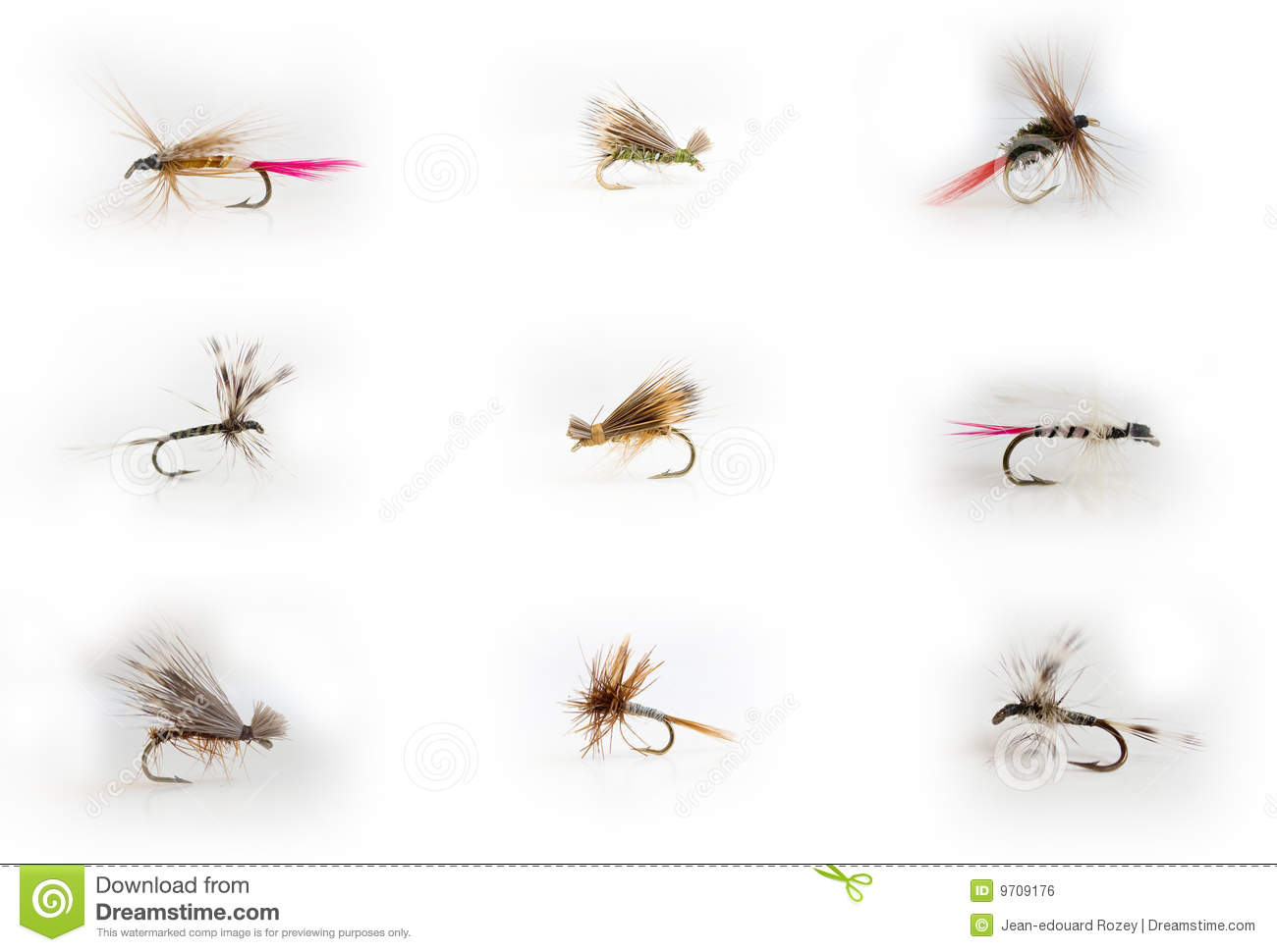 Fly fishing lures stock photography for Fly fishing lures