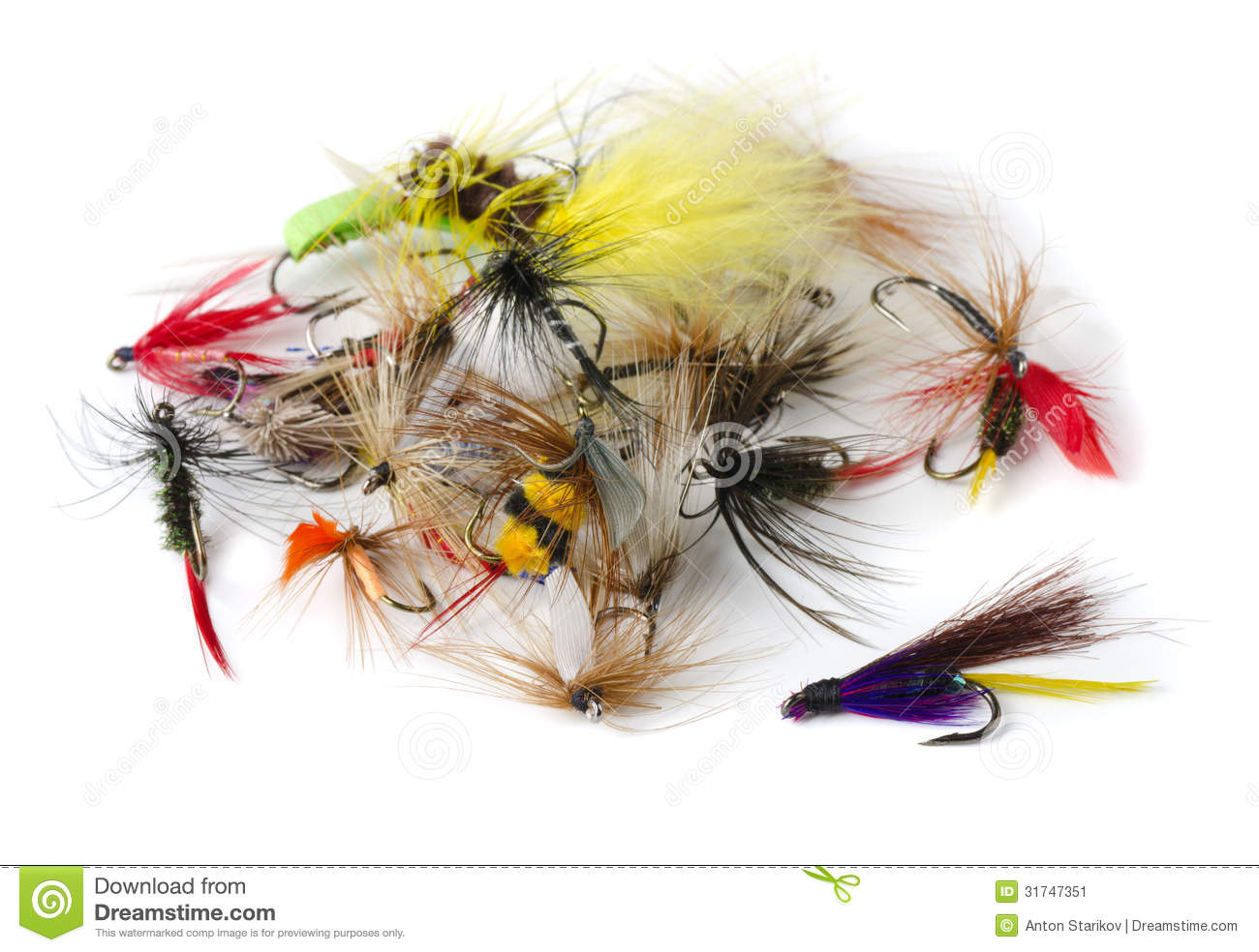 Fly fishing lures stock photography for Fly fishing bait