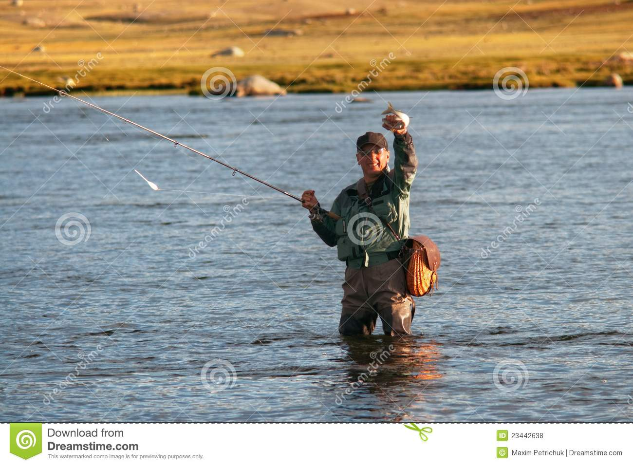 Fly fishing in mongolia royalty free stock photos image for Fly fishing mongolia