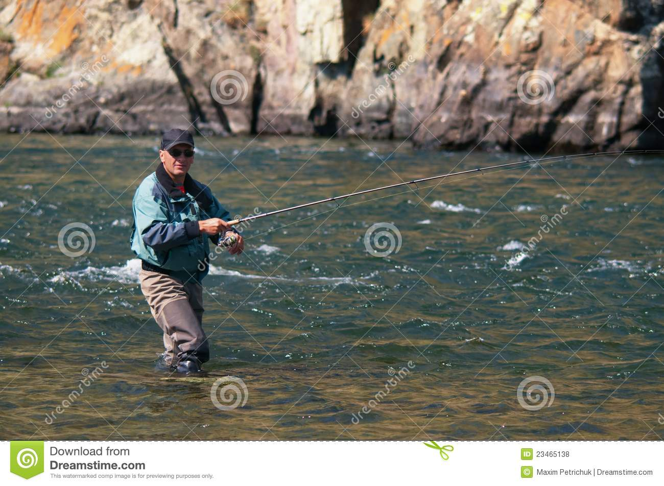 Fly fishing in mongolia grayling fish royalty free stock for Fly fishing mongolia