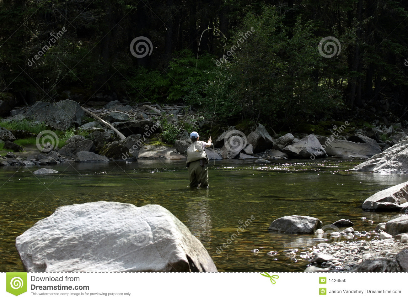 Fly fishing in montana stock photo image of wading for Fishing in montana
