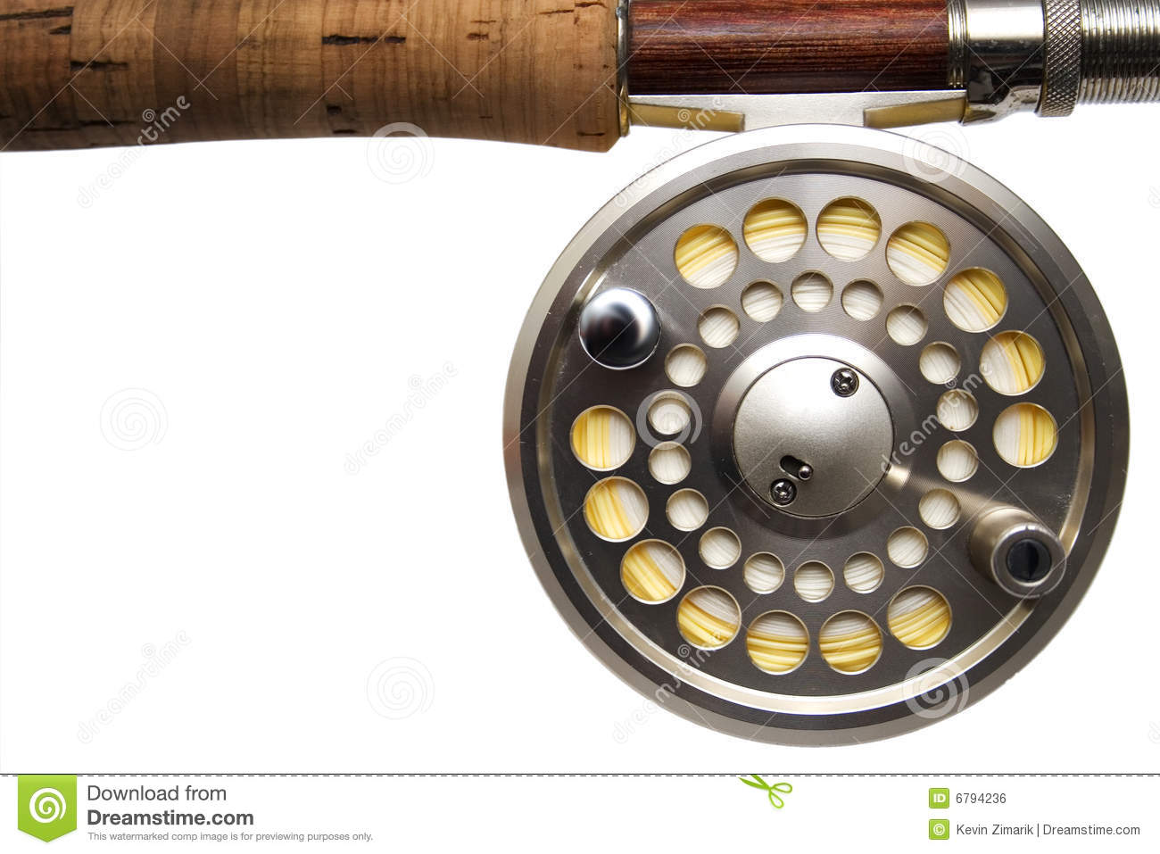 fly fishing reel white background stock photo image of tackle