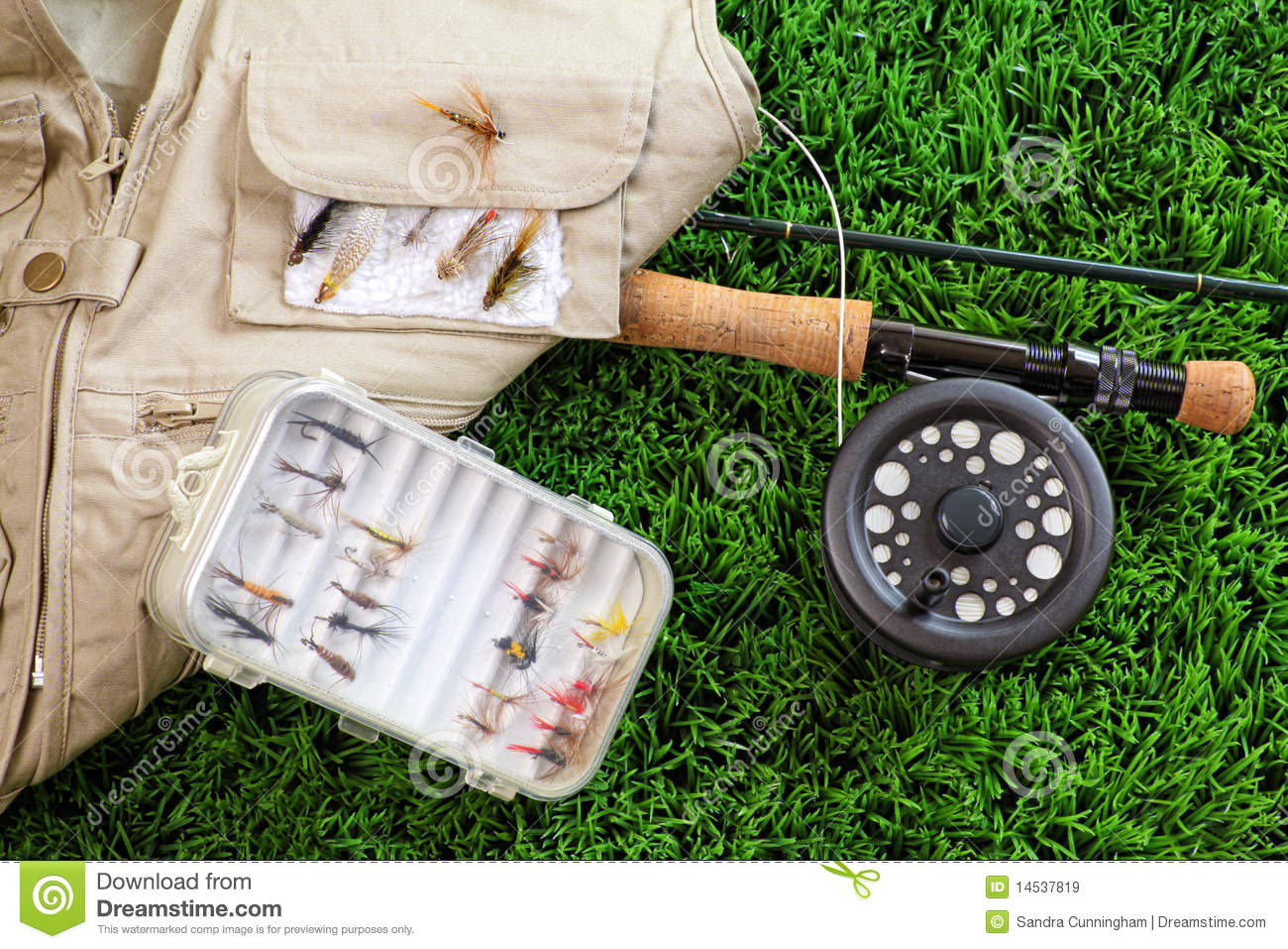 Fly fishing rod and accessories royalty free stock images for Fishing rod accessories