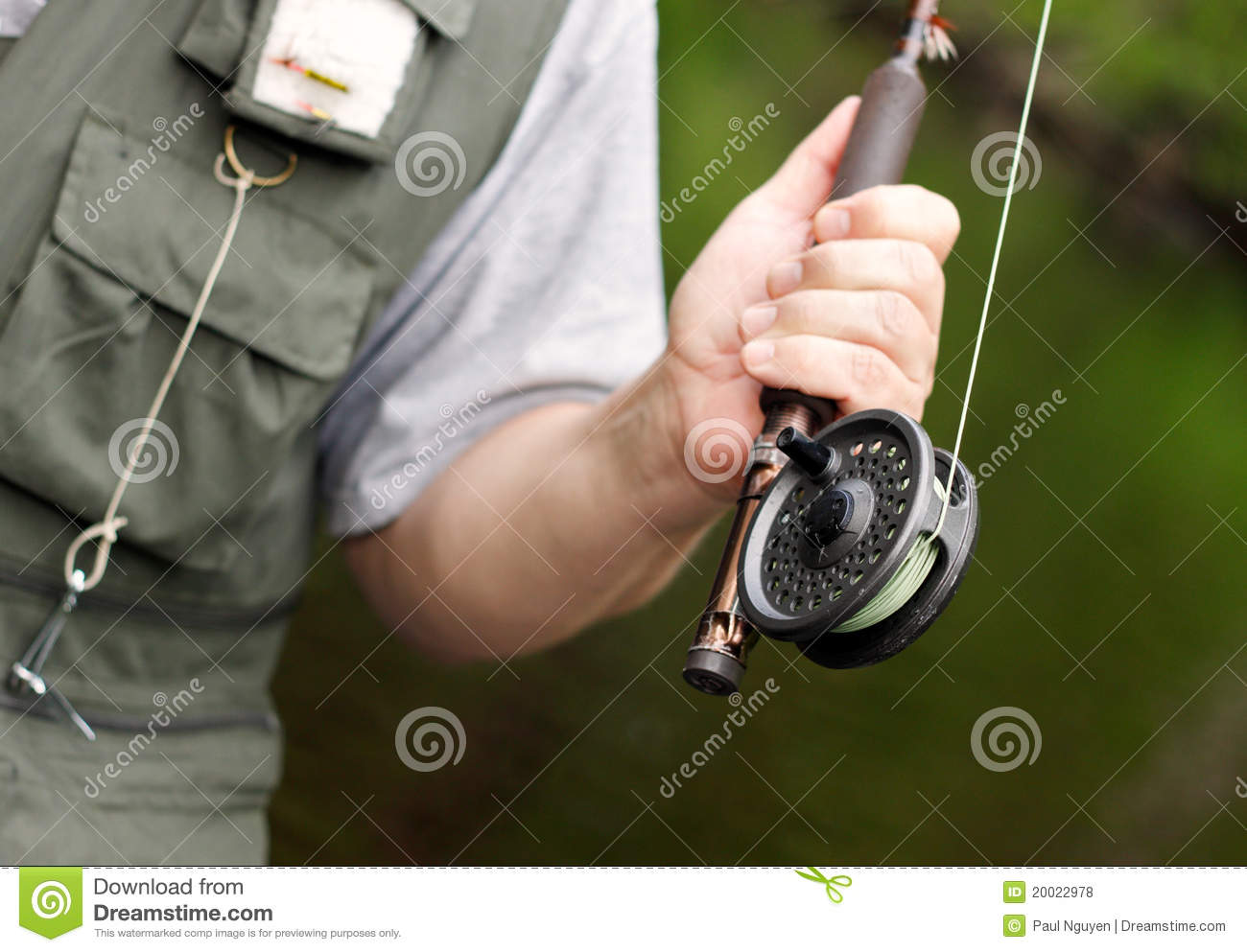 Fly fishing rod and reel stock photo image of lifestyle for Trout fishing rod and reel