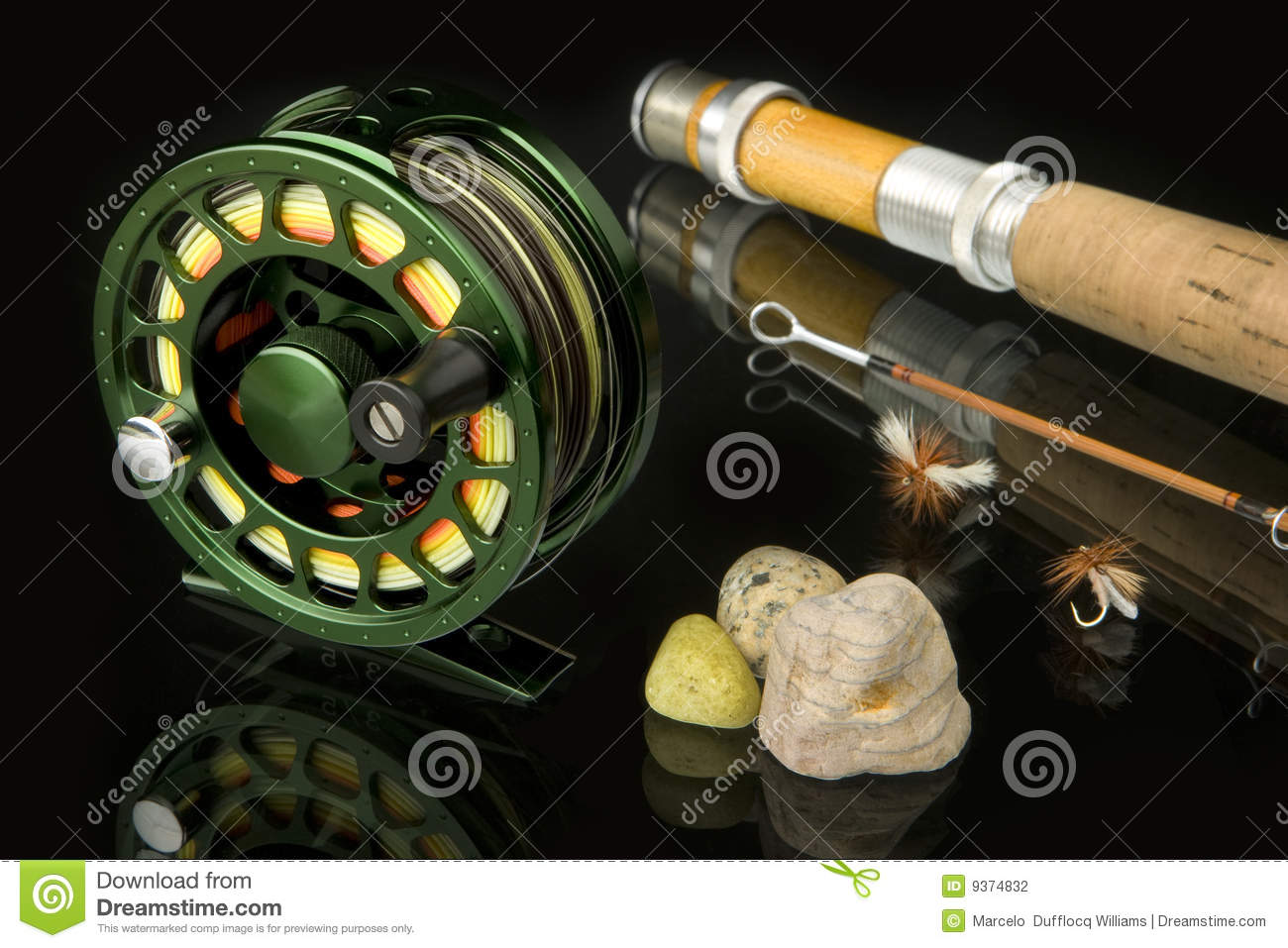 Fly fishing tackle stock photography image 9374832 for Fly fishing supplies