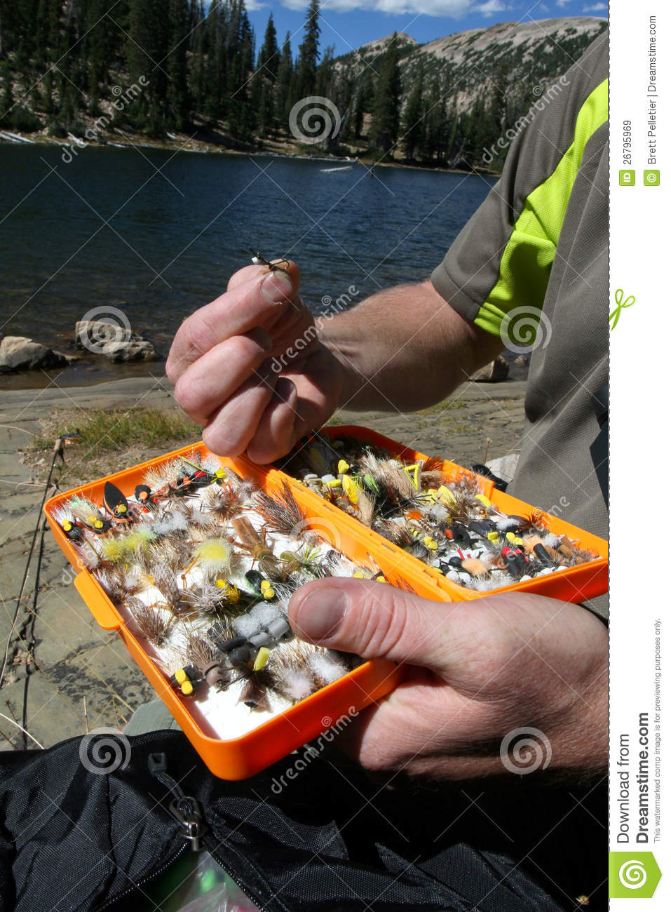 Fly fishing tackle box stock image image of options for Fly fishing equipment