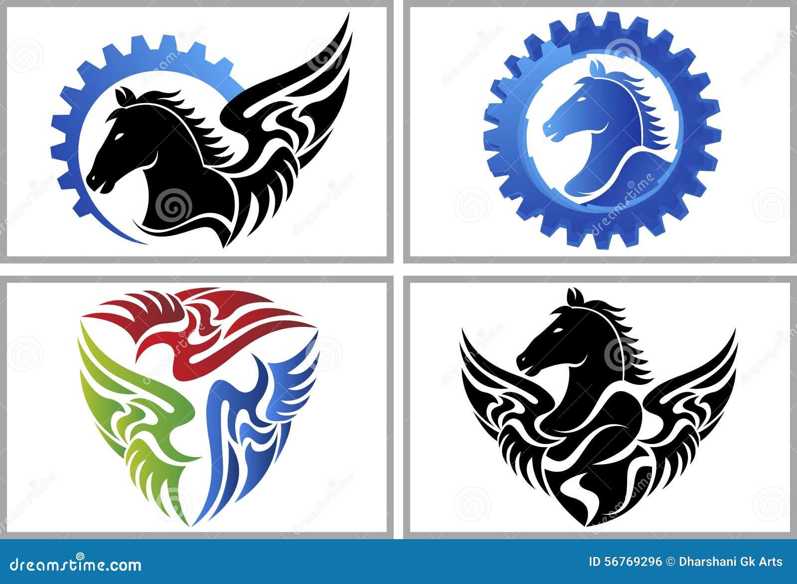 Fly Horse Logo Stock Vector Illustration Of Heat Design 56769296