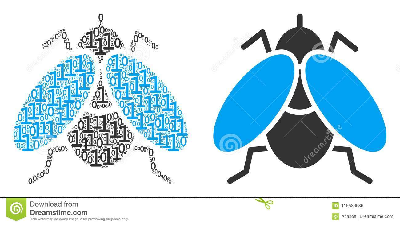 Fly insect composition of binary digits stock vector illustration download fly insect composition of binary digits stock vector illustration of mosaic zero ccuart Images