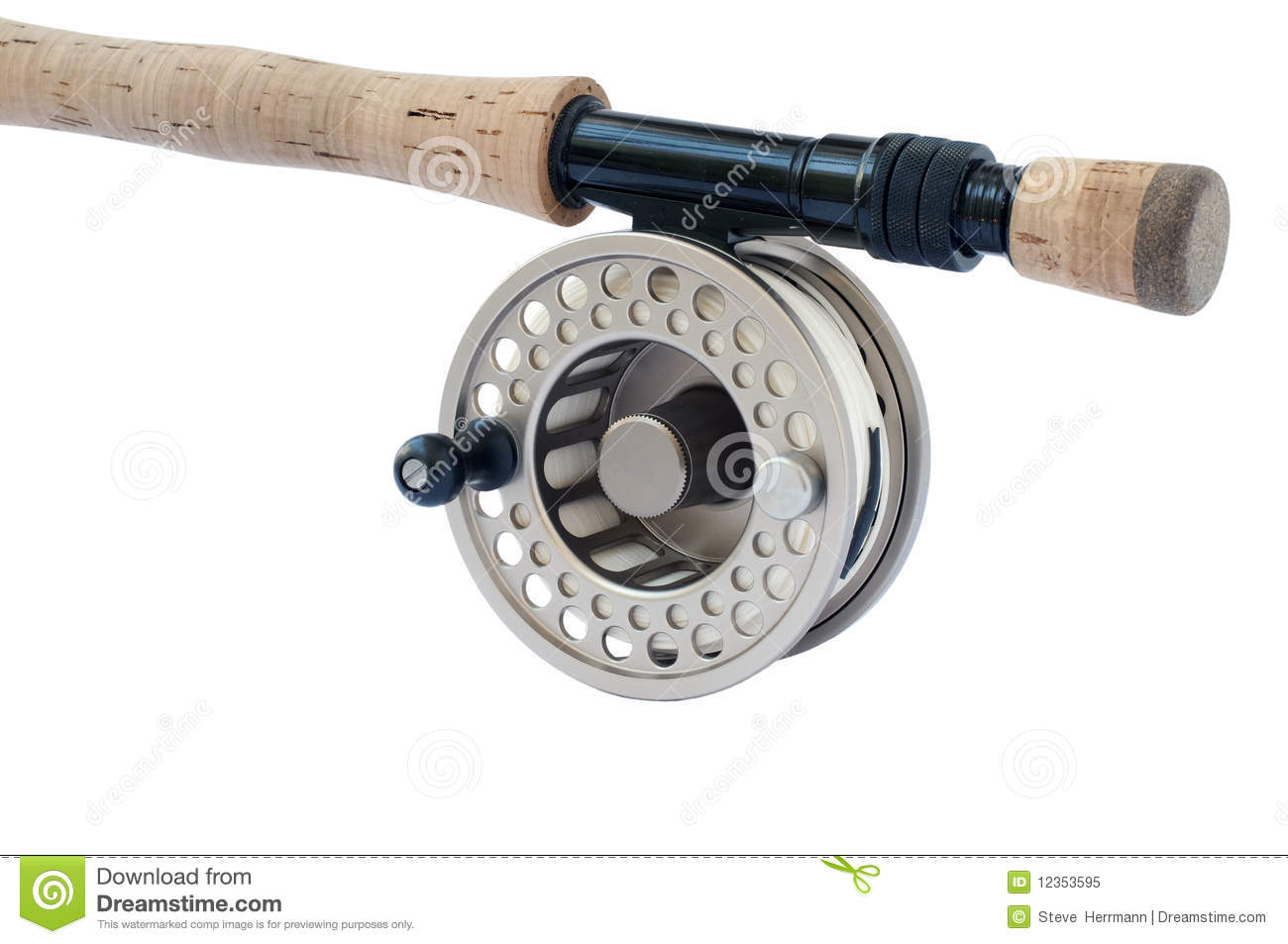 Fly rod and reel stock image image of river nature for Trout fishing rod and reel
