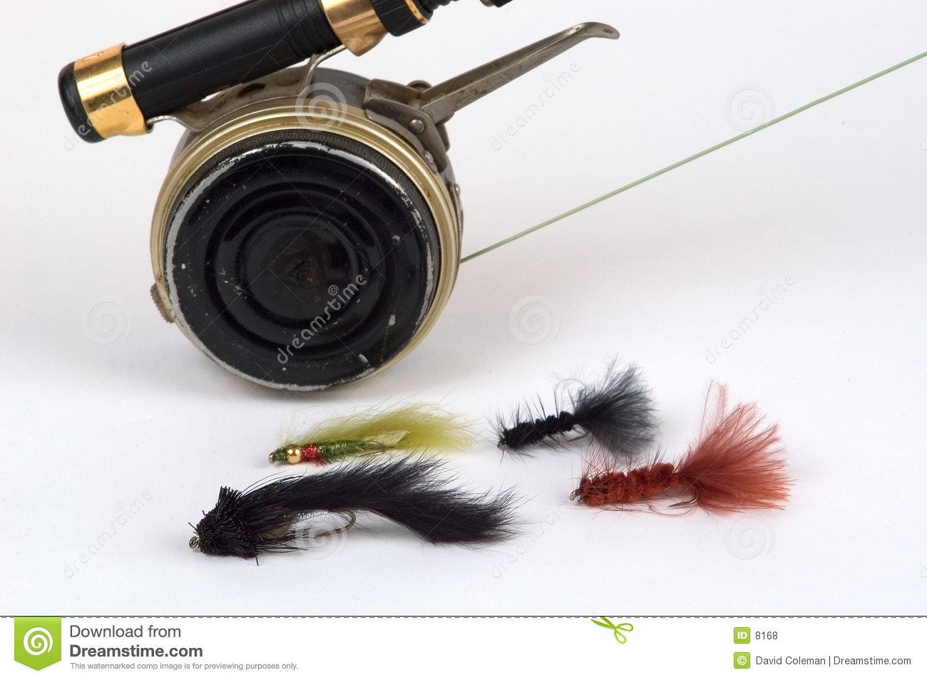 Fly rod, reel and flies