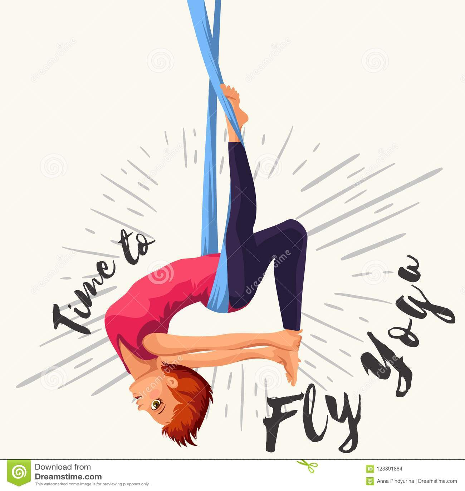 Aerial Yoga Poses Poster
