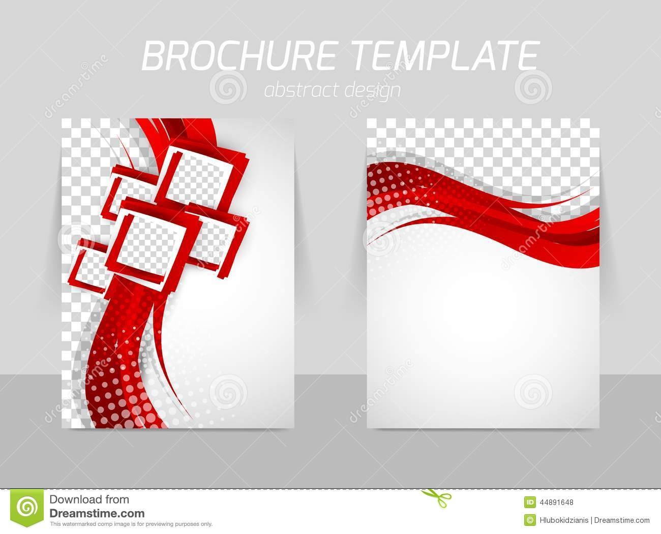 Flyer back and front template design stock vector for Red brochure template