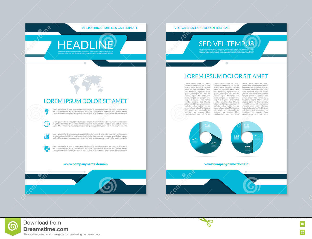 flyer brochure annual report layout template a size stock vector flyer brochure annual report layout template a4 size