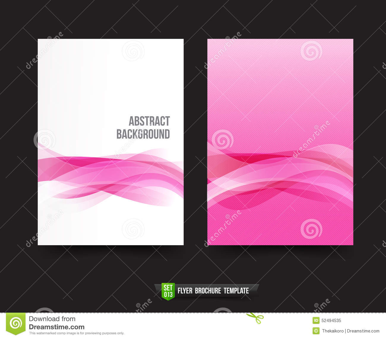 Flyer brochure background template 013 light pink curve for Background brochure templates
