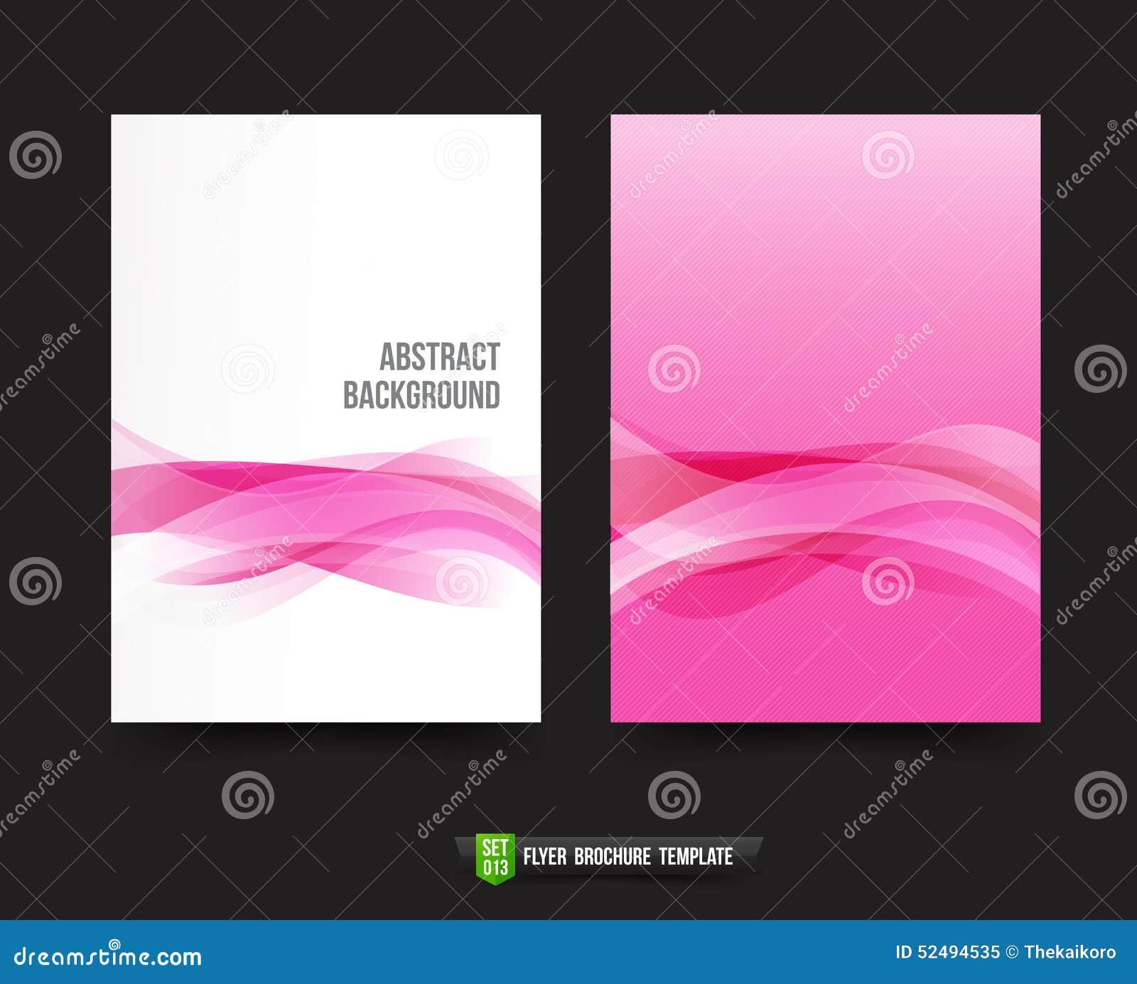 Flyer brochure background template 013 light pink curve for Brochure background templates