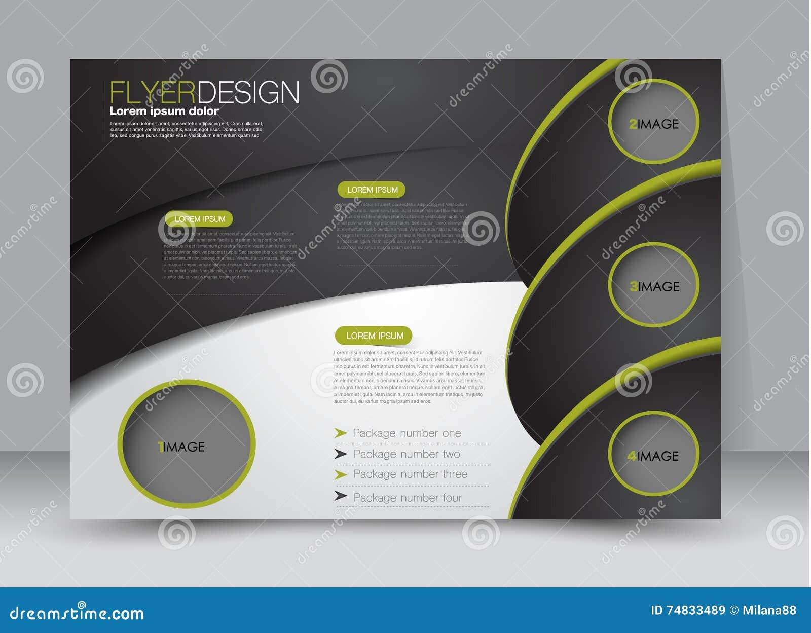 Flyer, Brochure, Billboard Template Design Landscape Orientation For ...
