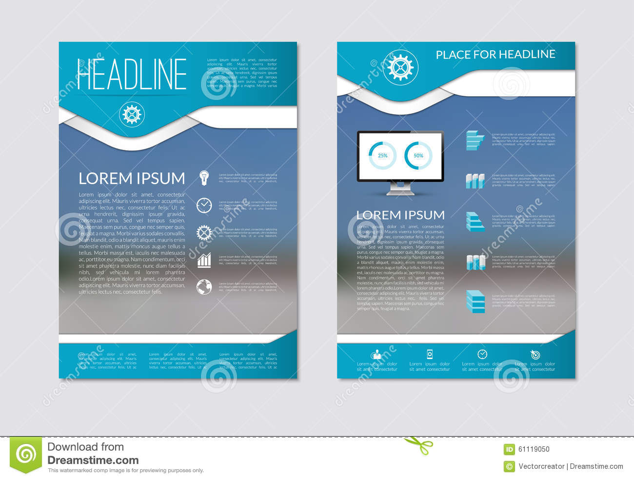 6 sided brochure template
