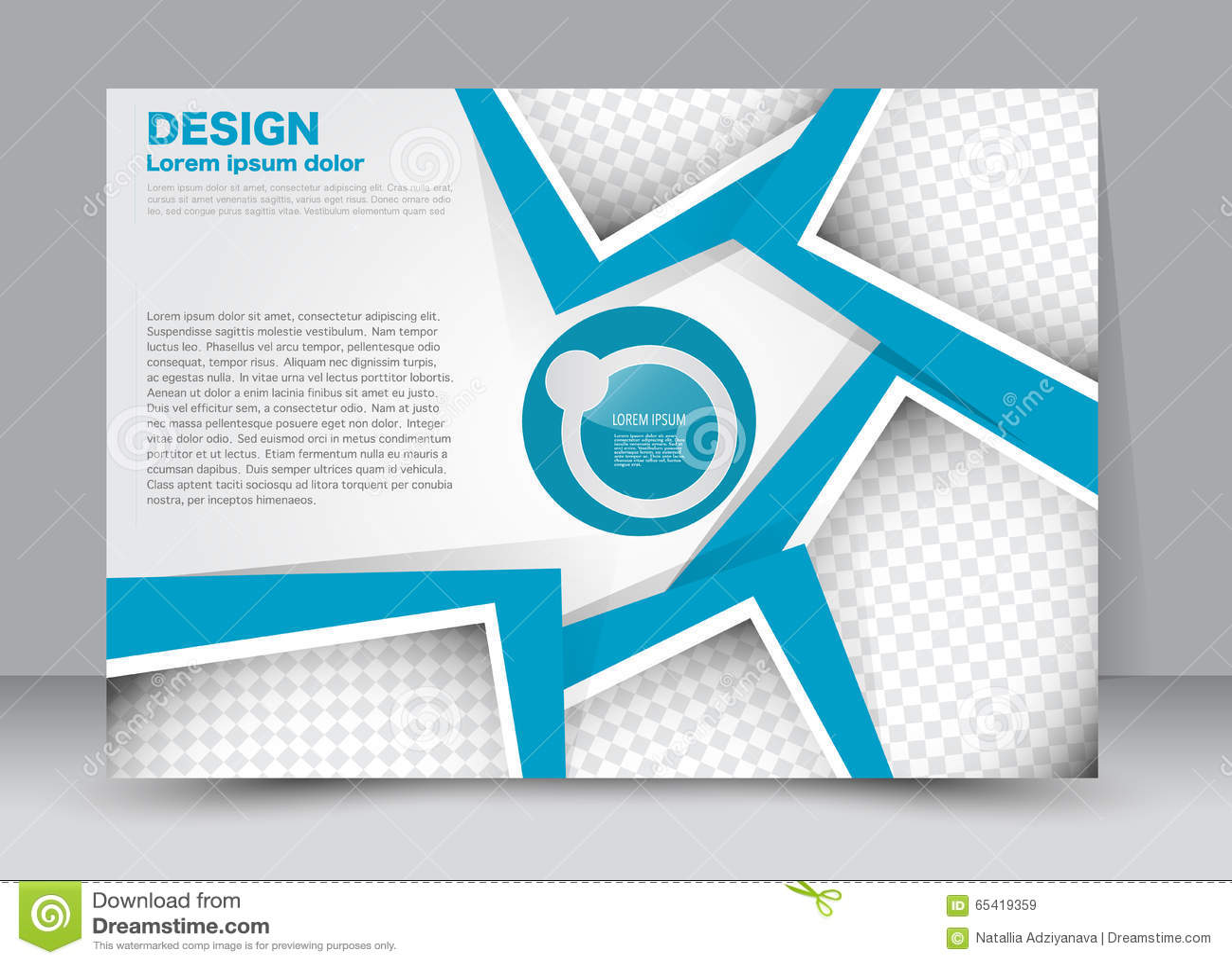 Landscape Book Cover Design : Flyer brochure magazine cover template design landscape