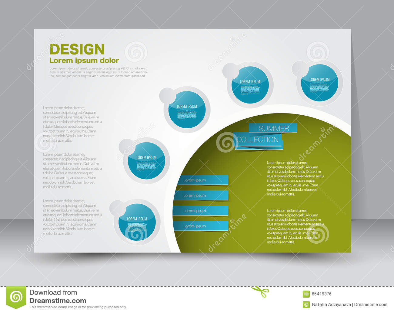 Flyer Brochure Magazine Cover Template Design Landscape