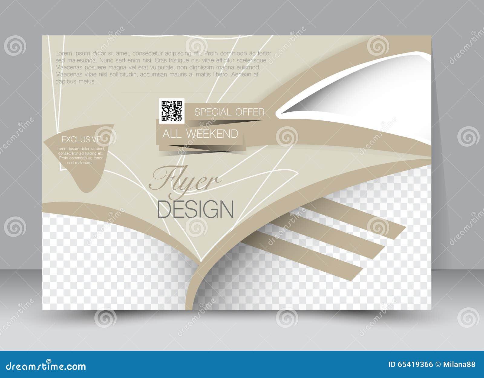 flyer brochure magazine cover template design landscape