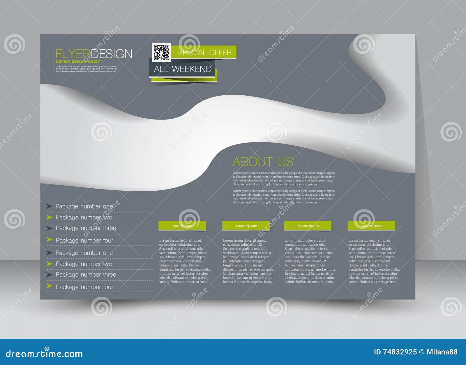 Flyer, Brochure, Magazine Cover Template Design Landscape ...