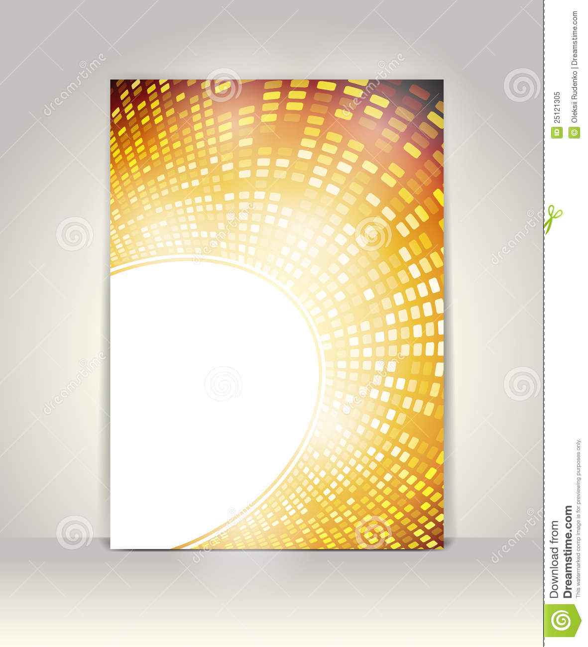 Flyer or brochure template stock vector illustration of for Background brochure templates