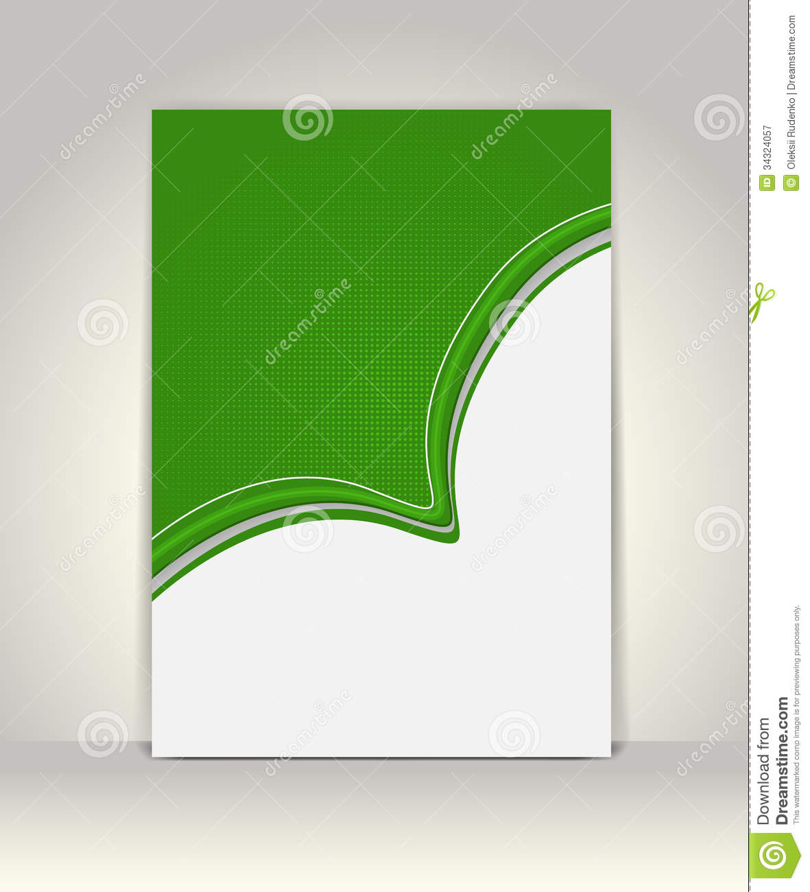 paper ad design templates - flyer or brochure template stock vector illustration of