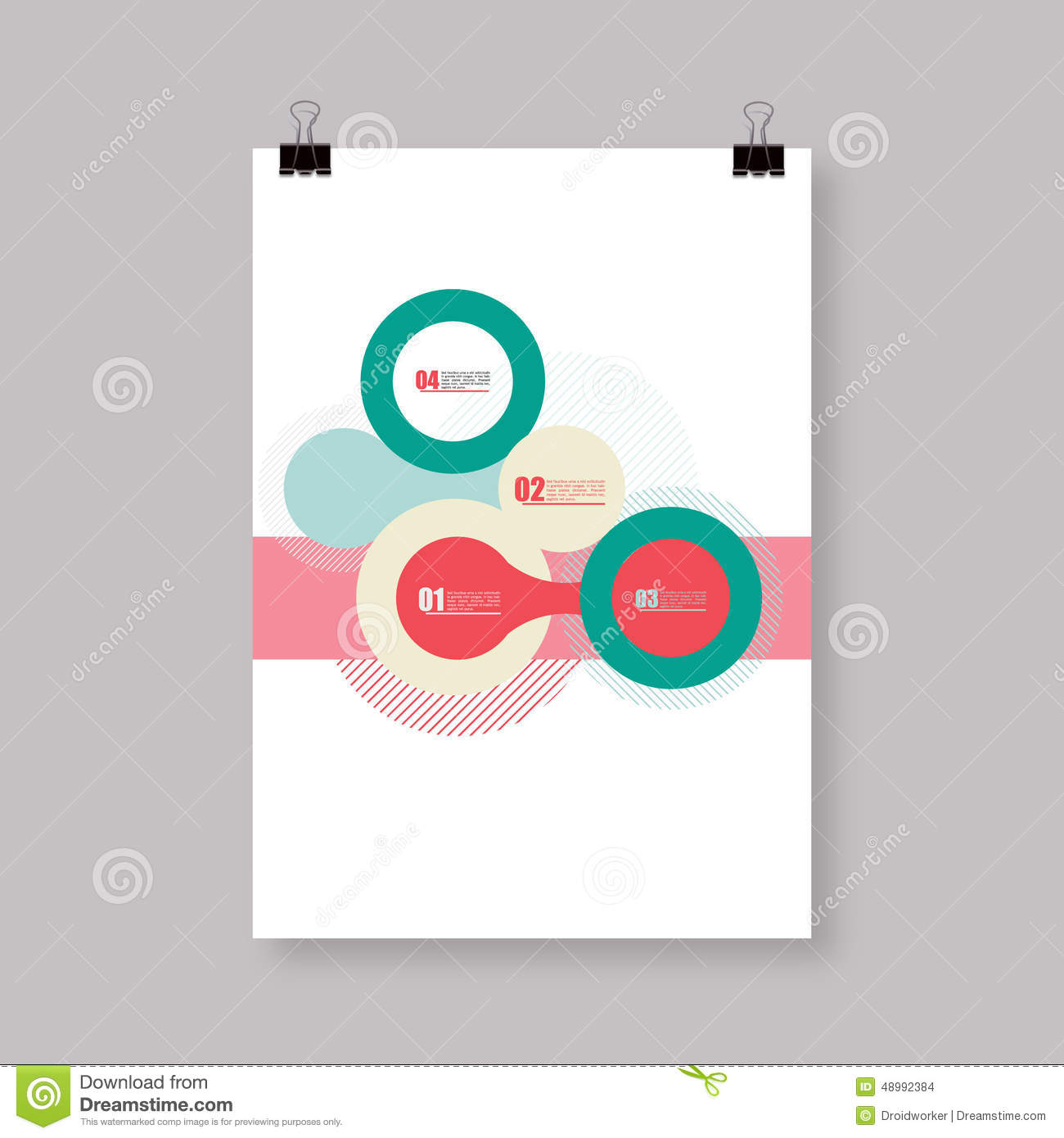 flyer or cover abstract a4 a3 poster template design with your