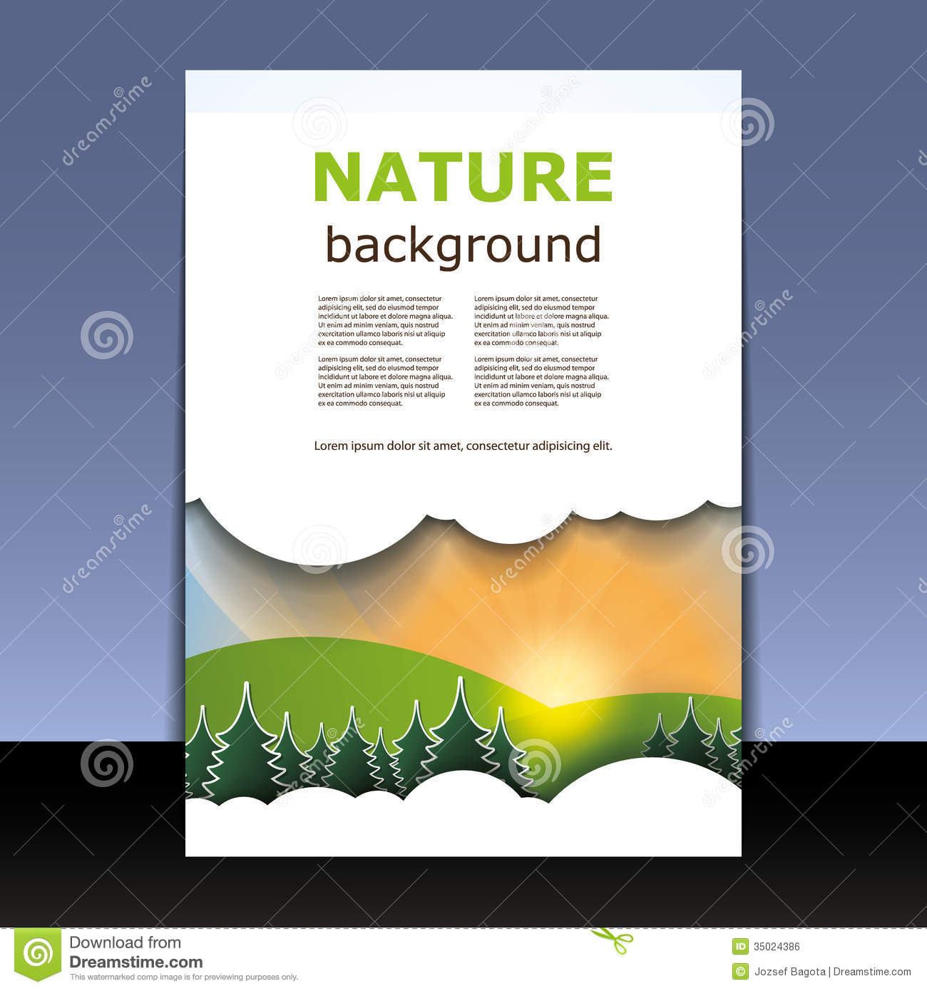 Book Cover Design Nature : Flyer or cover design royalty free stock image