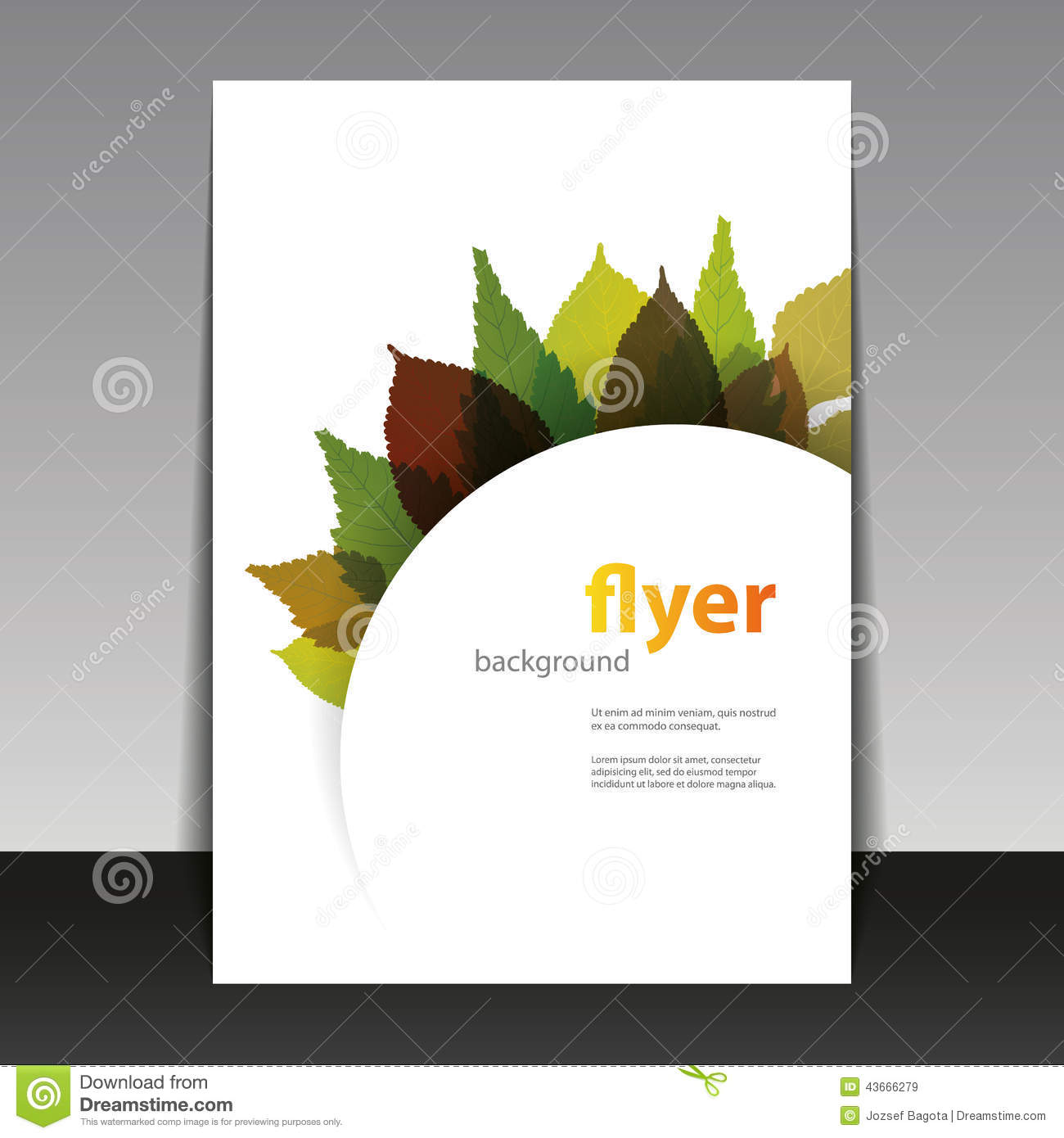 Book Cover Template Editable : Flyer or cover design autumn leaves stock vector image