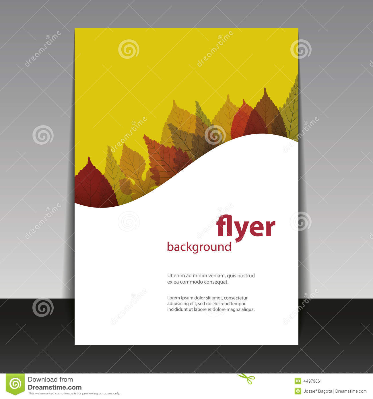Book Cover Design Template Ks : Flyer or cover design autumn leaves stock photo image