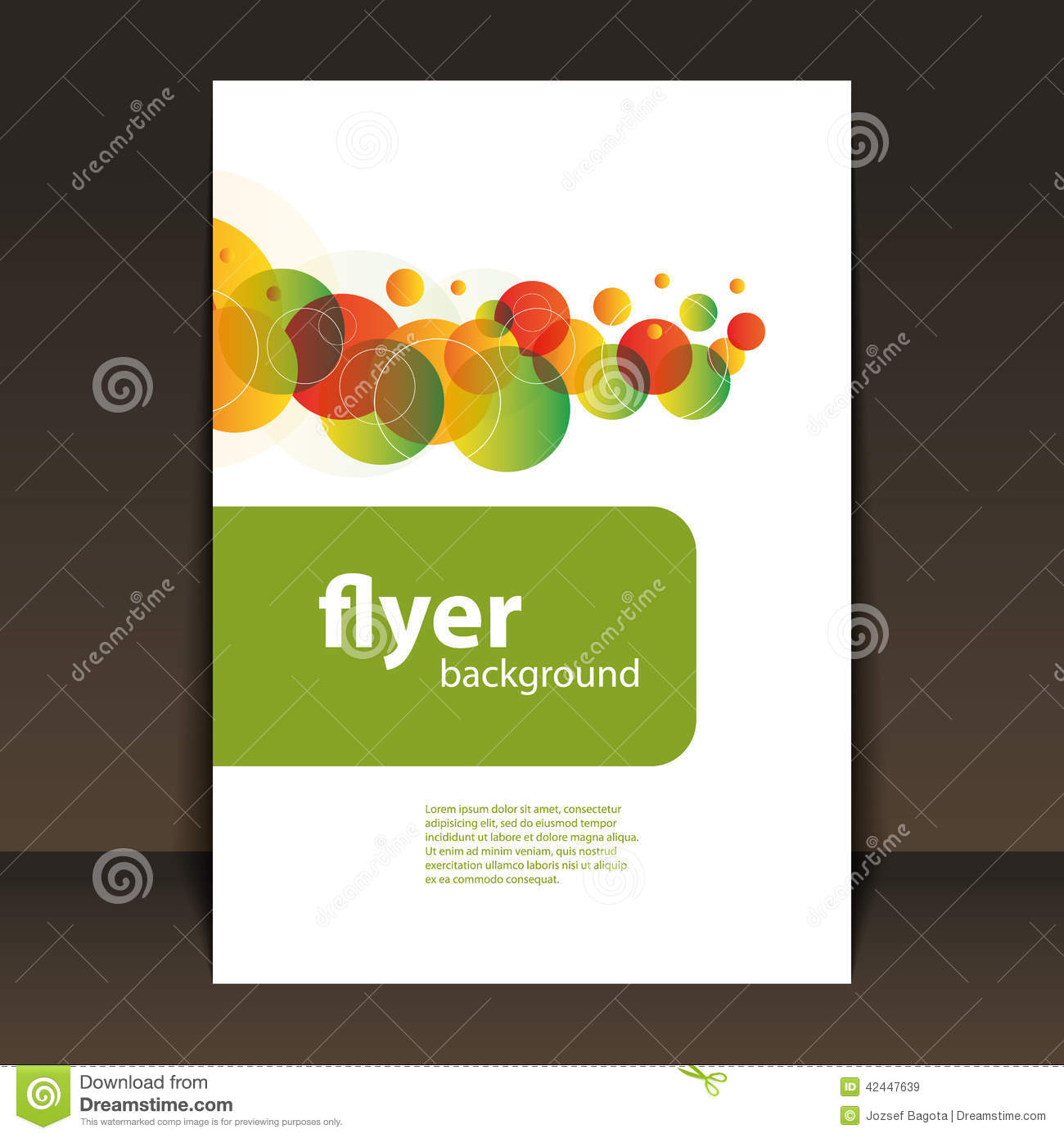 Flyer Or Cover Design Circles Pattern Background Stock
