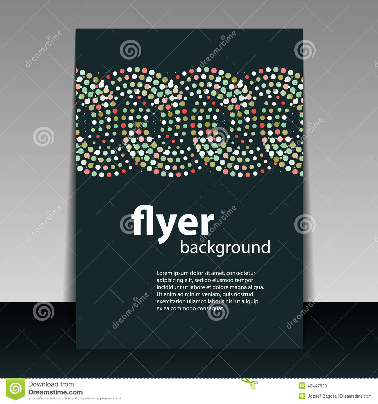 Book Cover Design Pattern : Flyer or cover design with circular dots pattern stock