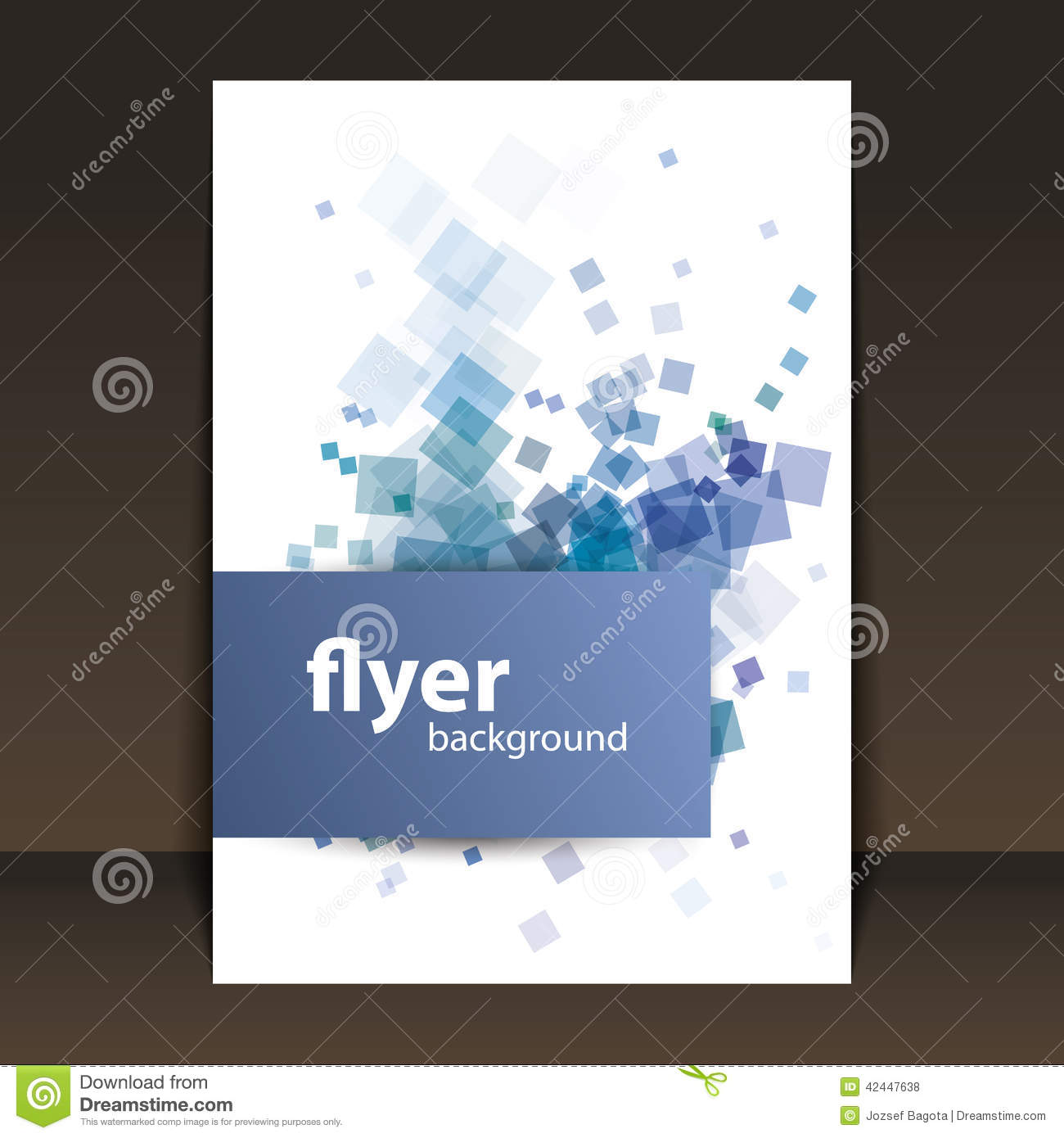 Modern Book Cover : Flyer or cover design with squares pattern stock vector