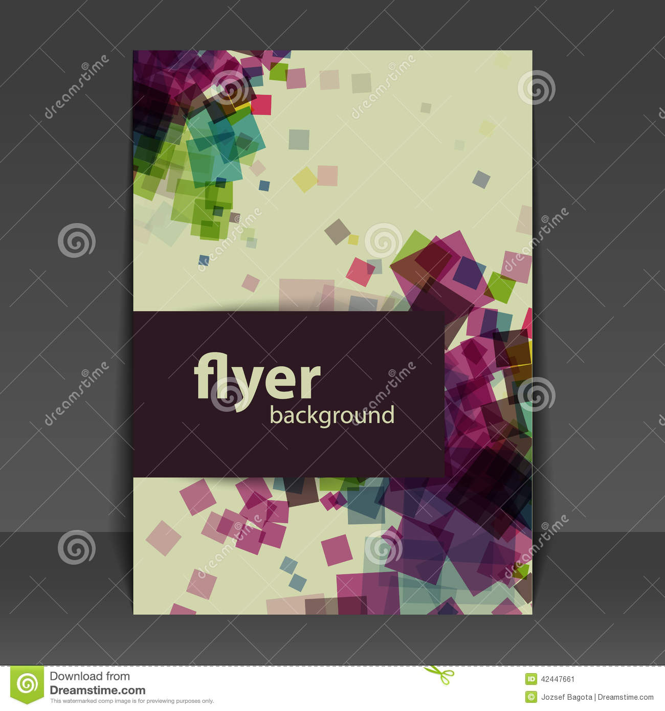 flyer or cover design with squares pattern stock vector