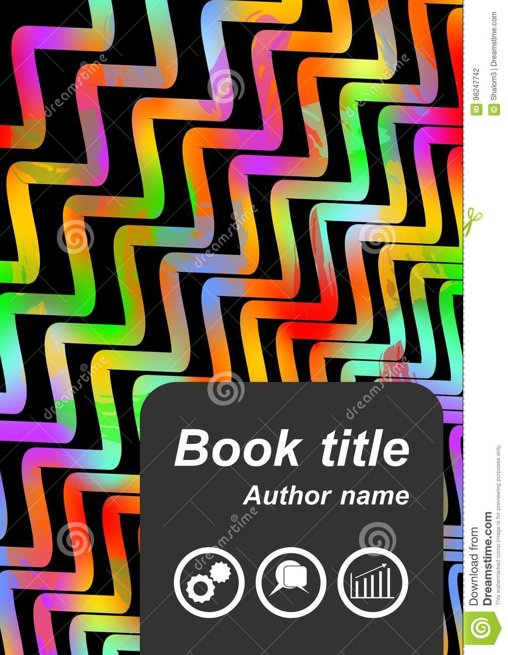 flyer cover with rainbow waves