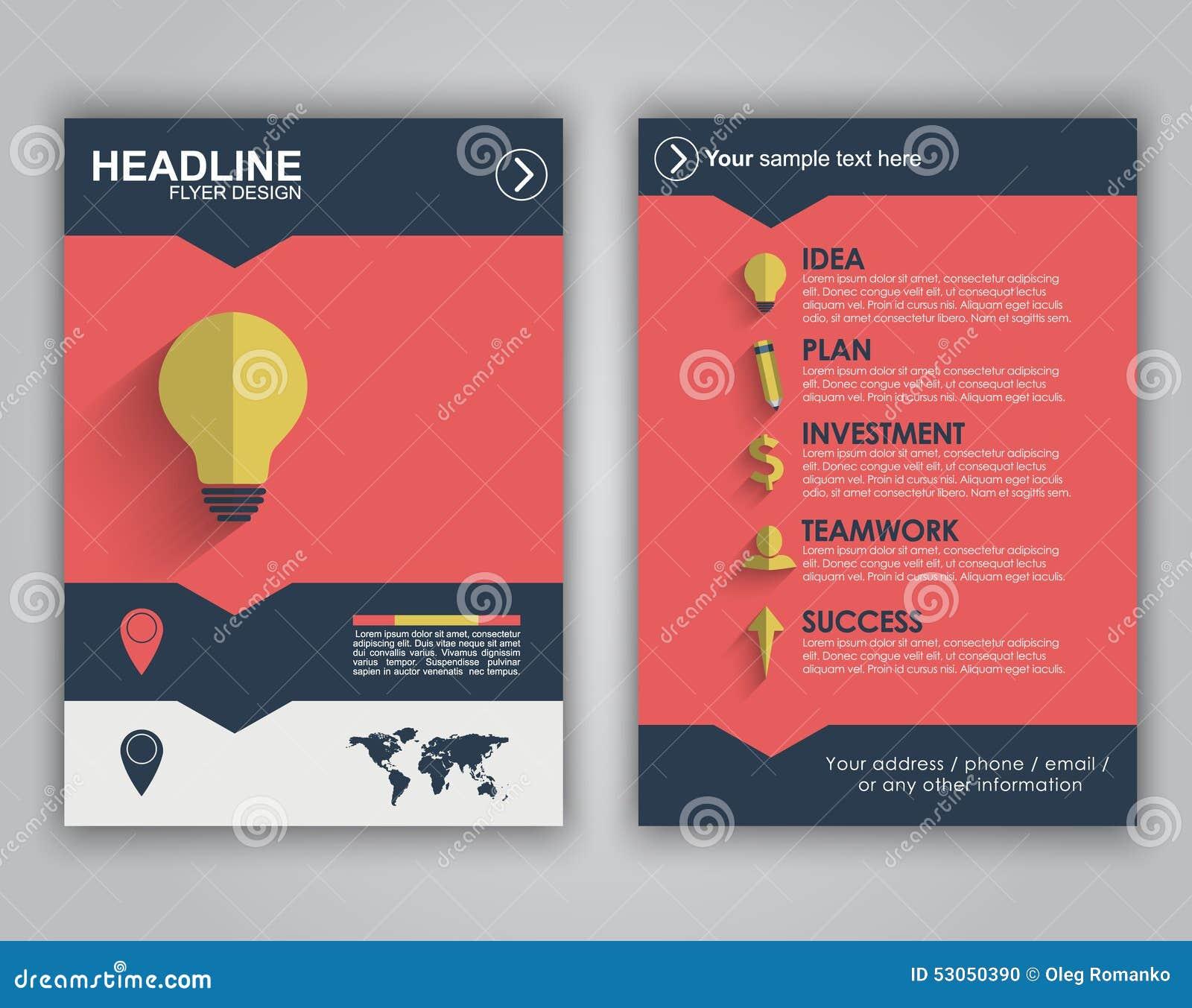 flyer design for advertising stock vector image 53050390 flyer design for advertising