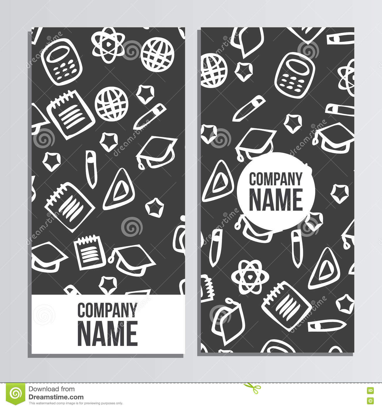 flyer design with back to school pattern back to school branding