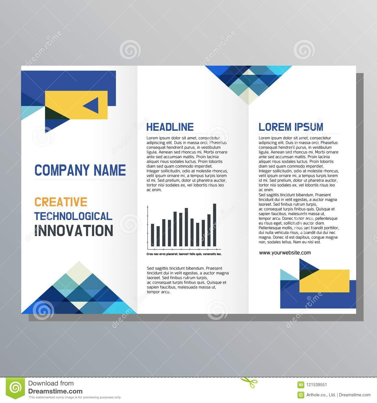 Flyer design. Business brochure template.