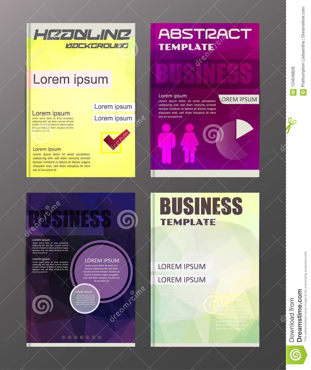 flyer design business and technology icons creative template d