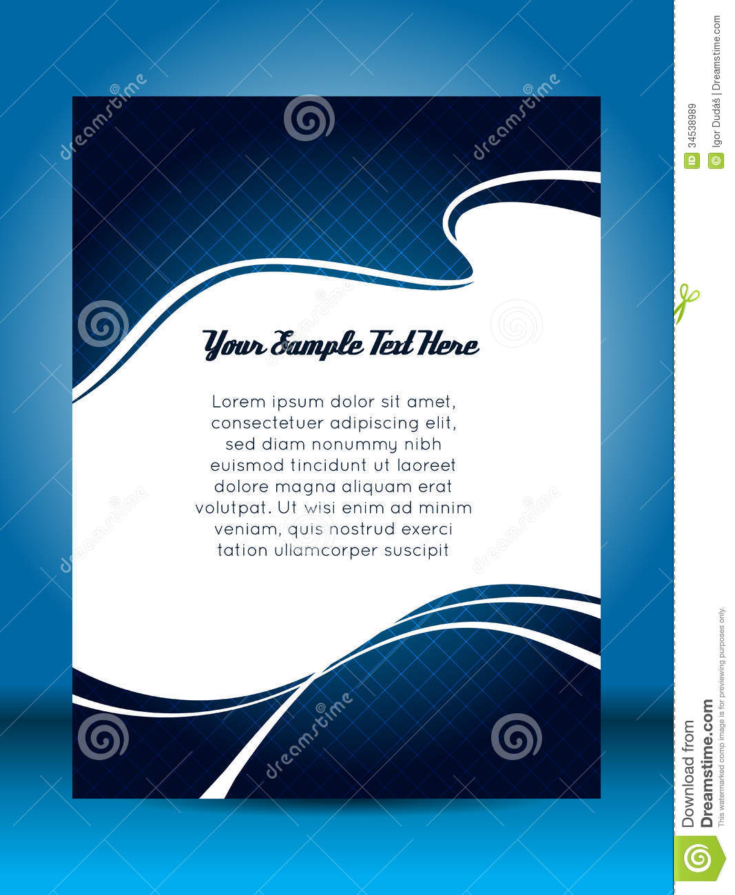 Flyer design stock vector image of illustration cover for Background brochure templates