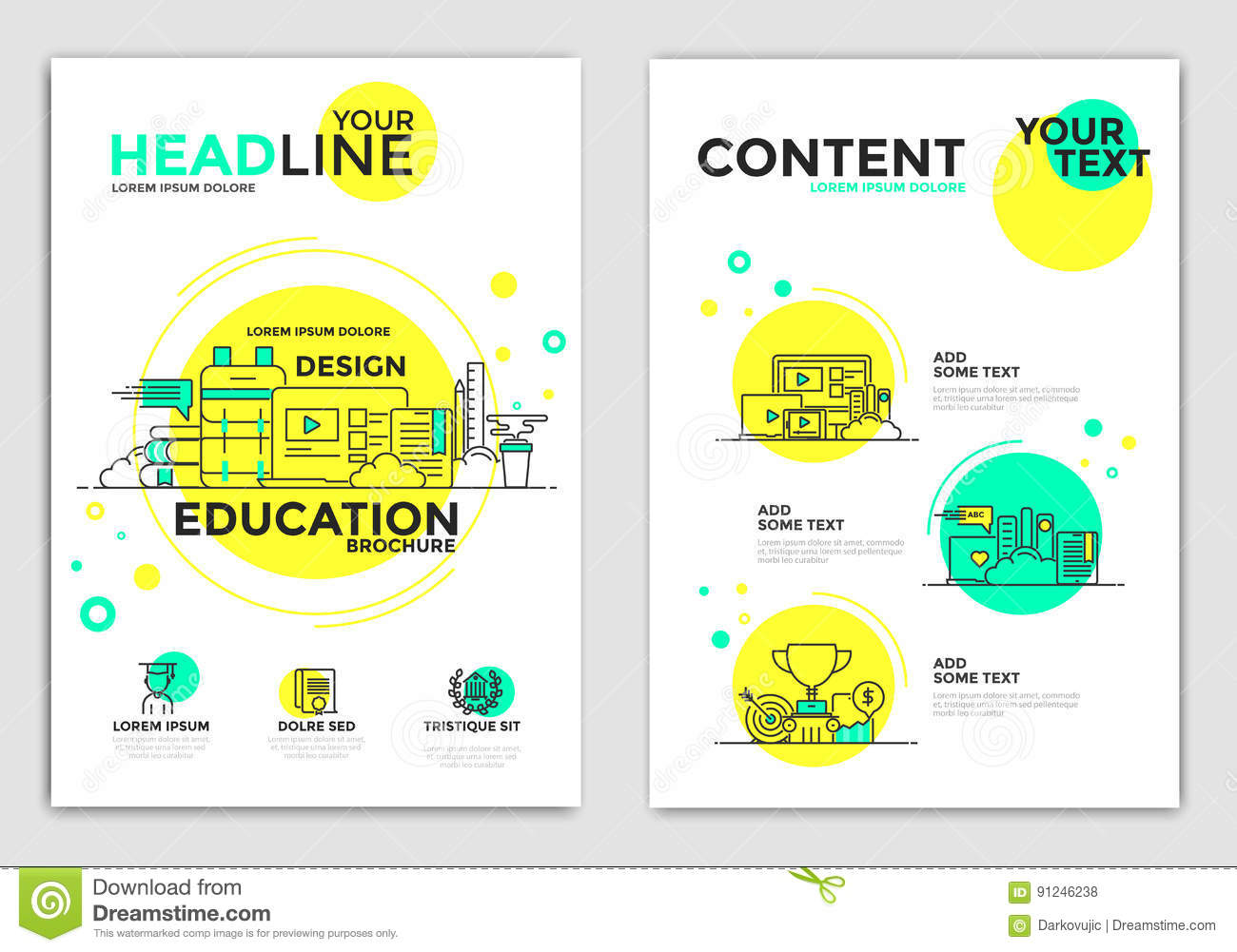 flyer design education flyers stock vector illustration of layouts