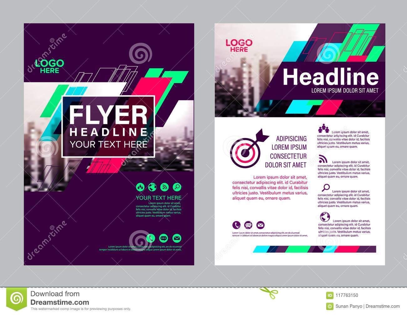 colorful flyer design template brochure layout design - Colorful Brochure Templates