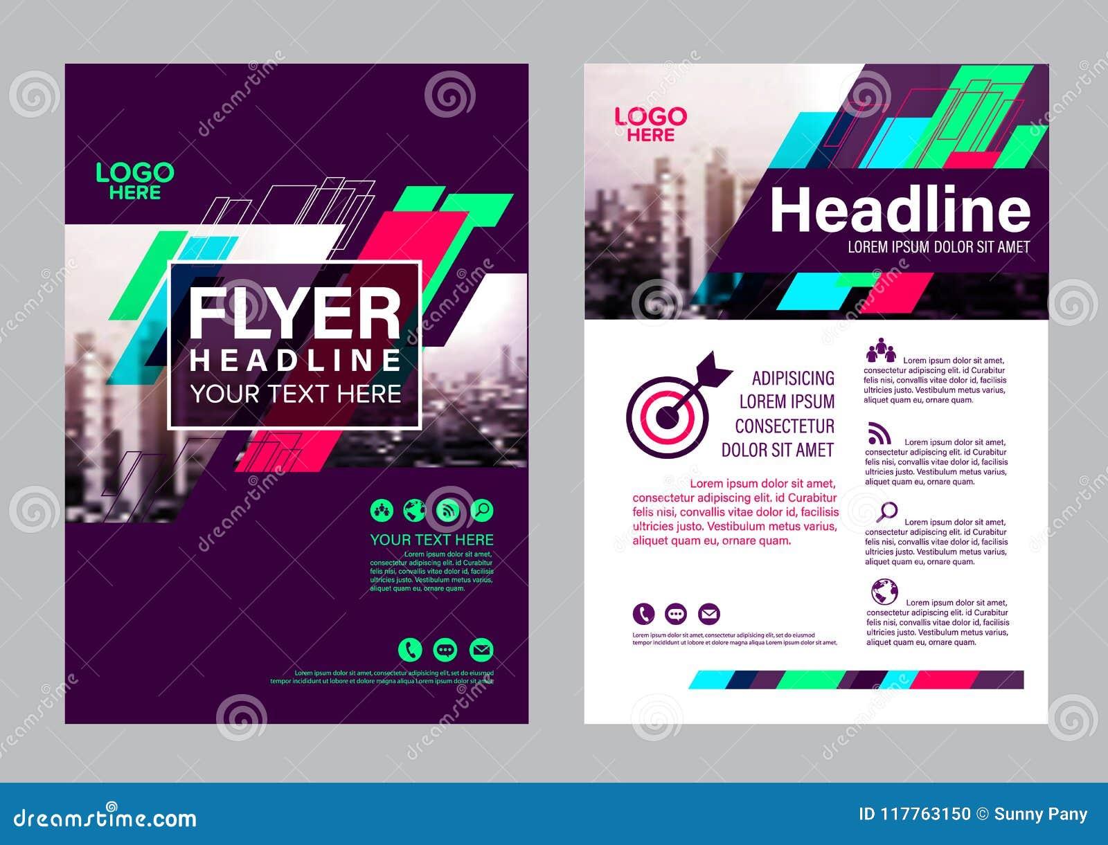 Colorful Flyer Design Template Brochure Layout Design Stock