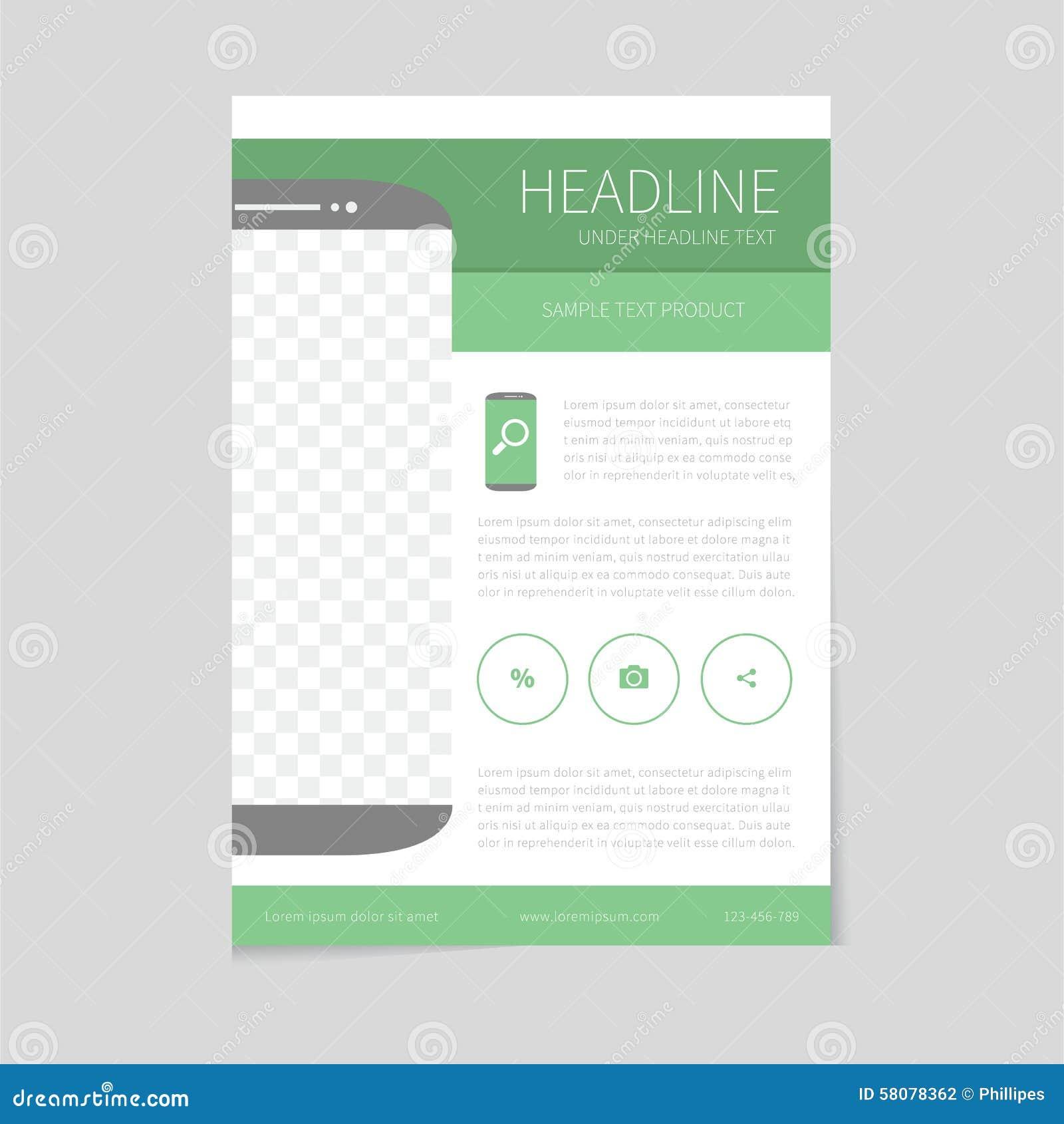 flyer design template in flat design stock vector illustration of